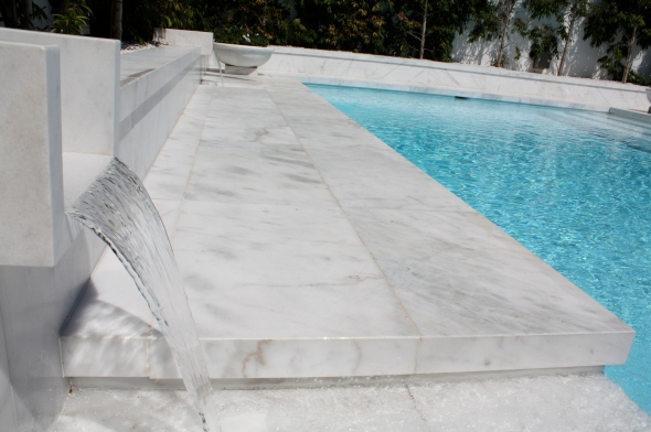 Features return water back to pool via Aqueducts.