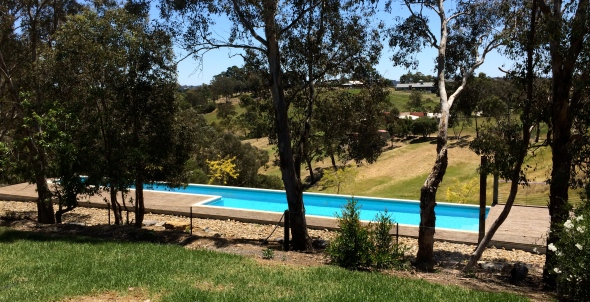 25 meter lap pool, fully tiled with infloor cleaning