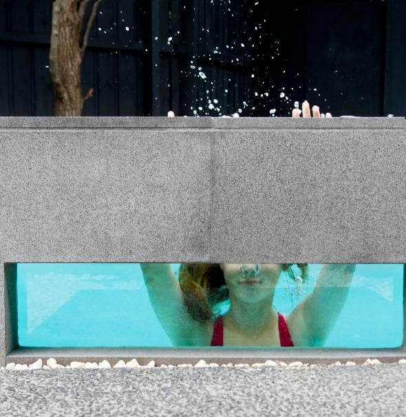 Acrylic pool panels