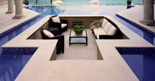 sunken pool lounge