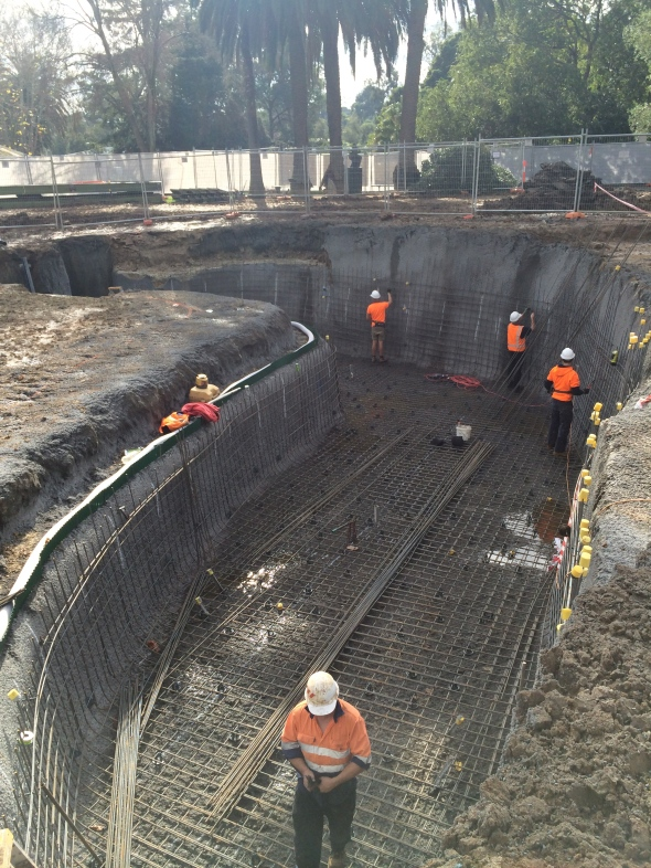 minke pools steel fixing